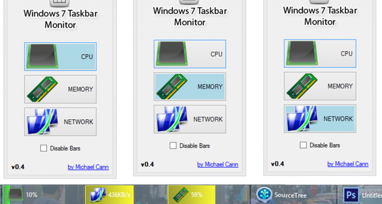 Windows Taskbar Monitor v0.4