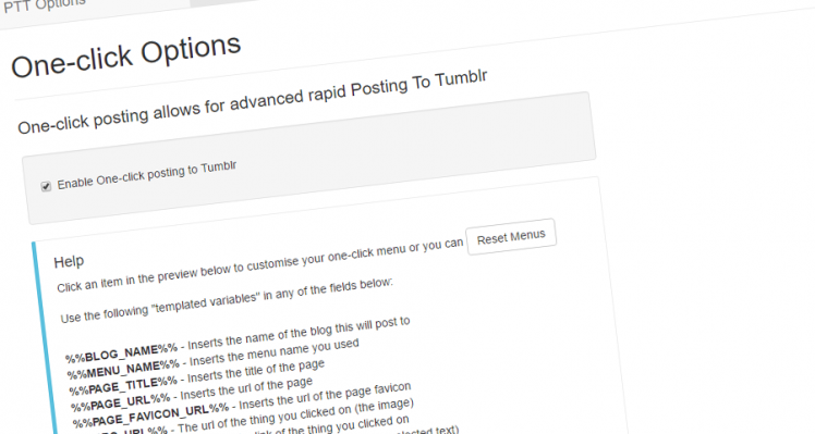 Post To Tumblr – v6.16 – Templated Variables